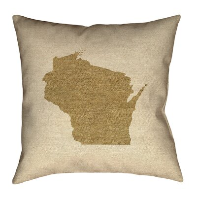 Sherilyn Wisconsin Floor Pillow Color: Brown, Size: 16 x 16, Type: Throw Pillow