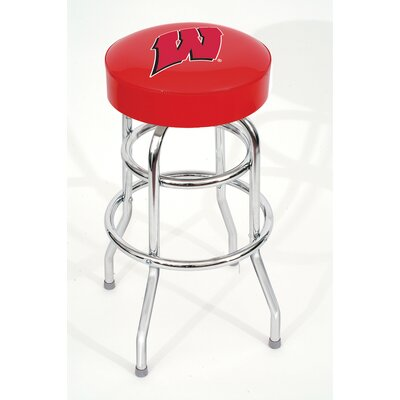 NCAA 30 Swivel Bar Stool NCAA Team: Wisconsin