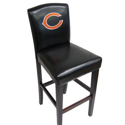 NFL 29.5 Bar Stool NFL Team: Bears Pub Chair