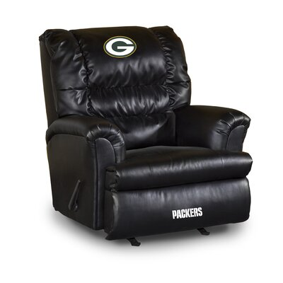 NFL Leather Manual Recliner NFL Team: Green Bay Packers