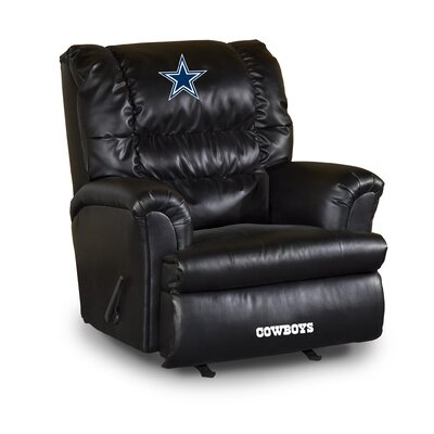 NFL Leather Manual Recliner NFL Team: Dallas Cowboys