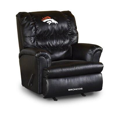 NFL Leather Manual Recliner NFL Team: Denver Broncos