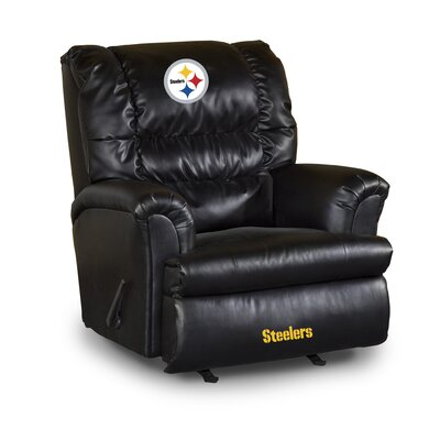 NFL Leather Manual Recliner NFL Team: Pittsburgh Steelers