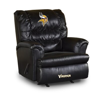NFL Leather Manual Recliner NFL Team: Miami Dolphins