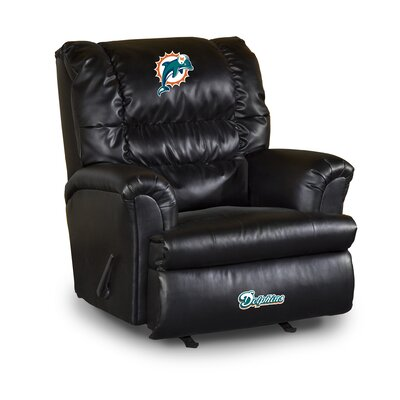 NFL Leather Manual Recliner NFL Team: Minnesota Vikings