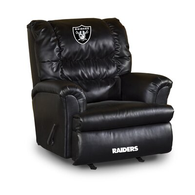 NFL Leather Manual Recliner NFL Team: Oakland Raiders