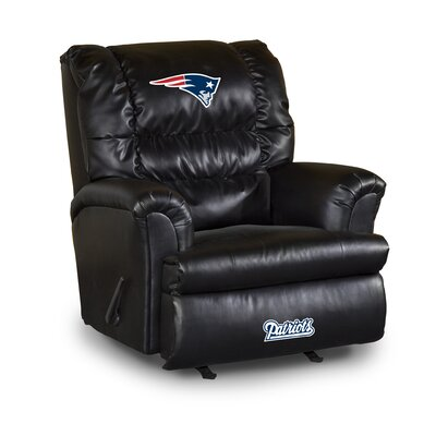 NFL Leather Manual Recliner NFL Team: New England Patriots