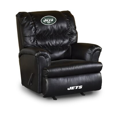 NFL Leather Manual Recliner NFL Team: New York Jets