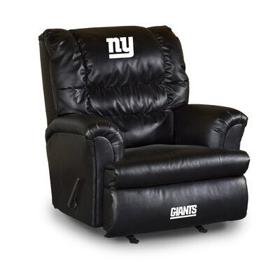 NFL Leather Manual Recliner NFL Team: New York Giants