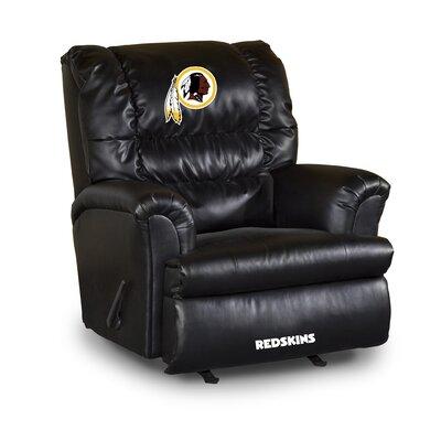 NFL Leather Manual Recliner NFL Team: Washington Redskins