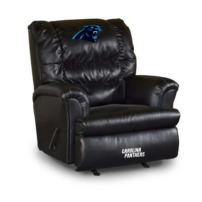 NFL Leather Manual Recliner NFL Team: Carolina Panthers
