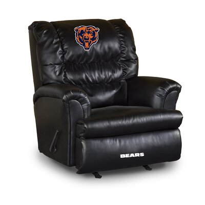 NFL Leather Manual Recliner NFL Team: Chicago Bears