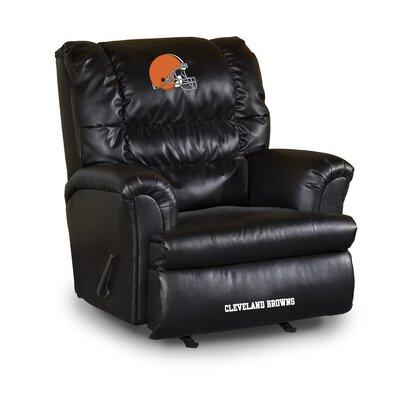 NFL Leather Manual Recliner NFL Team: Cleveland Browns