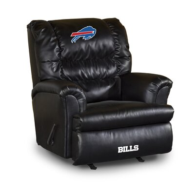 NFL Leather Manual Recliner NFL Team: Buffalo Bills