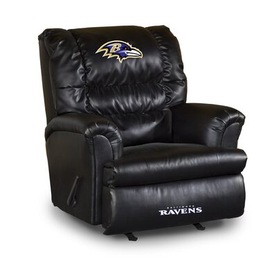 NFL Leather Manual Recliner NFL Team: Baltimore Ravens