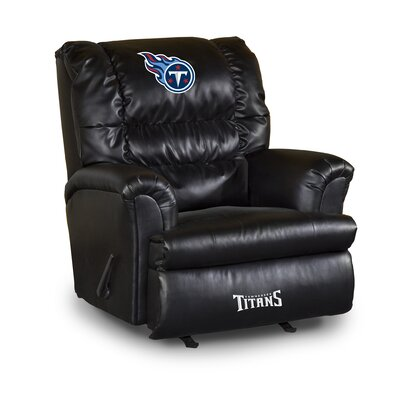 NFL Leather Manual Recliner NFL Team: Tennessee Titans