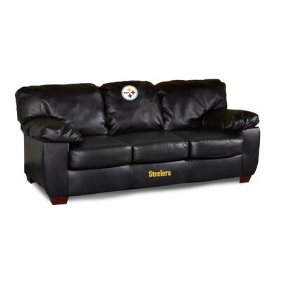 NFL Classic Leather Sofa NFL Team: Pittsburgh Steelers