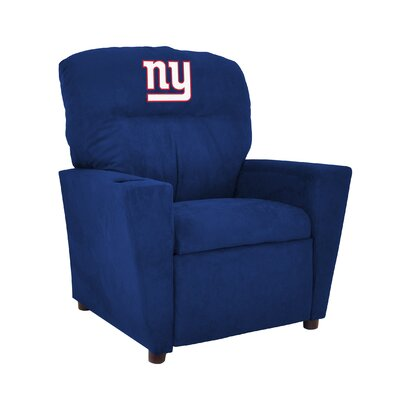 NFL Kids Recliner with Cup Holder NFL Team: New York Giants, Size: Kid 106-1013