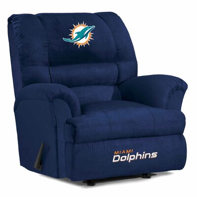 NFL Big Daddy Manual Recliner NFL Team: Miami Dolphins