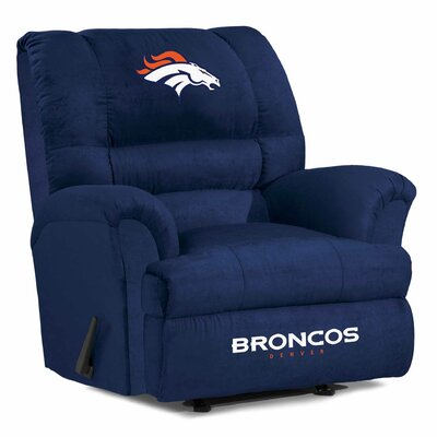 NFL Big Daddy Manual Recliner NFL Team: Denver Broncos