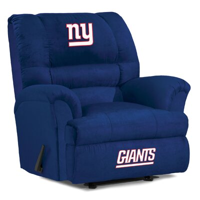 NFL Big Daddy Manual Recliner NFL Team: New York Giants