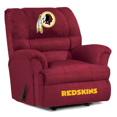 NFL Big Daddy Manual Recliner NFL Team: Washington Redskins