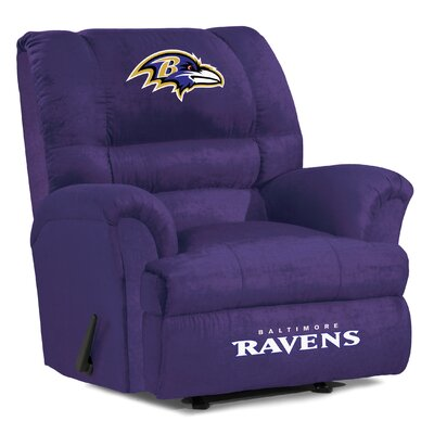 NFL Big Daddy Manual Recliner NFL Team: Baltimore Ravens