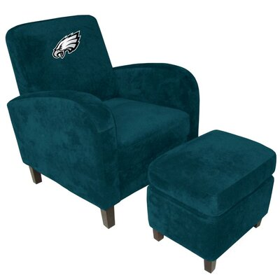 NFL Den Armchair and Ottoman Team: Philadelphia Eagles