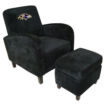 NFL Den Armchair and Ottoman Team: Baltimore Ravens