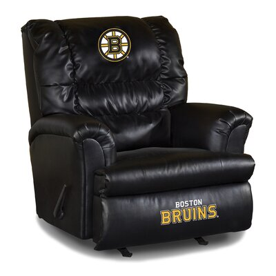 Nhl Big Daddy Leather Manual Recliner NHL Team: Boston Bruins