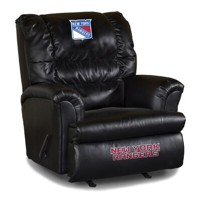 Nhl Big Daddy Leather Manual Recliner NHL Team: New York Rangers
