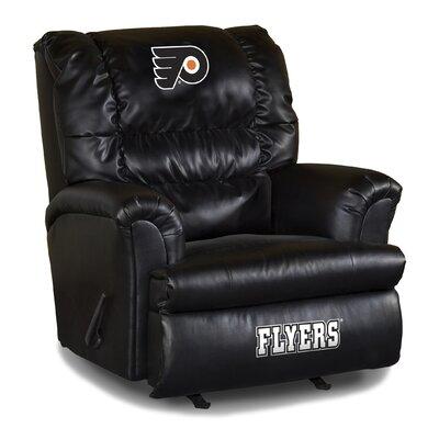 Nhl Big Daddy Leather Manual Recliner NHL Team: Philadelphia Flyers