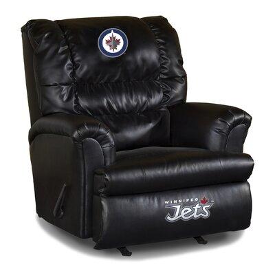 Nhl Big Daddy Leather Manual Recliner NHL Team: Winnipeg Jets