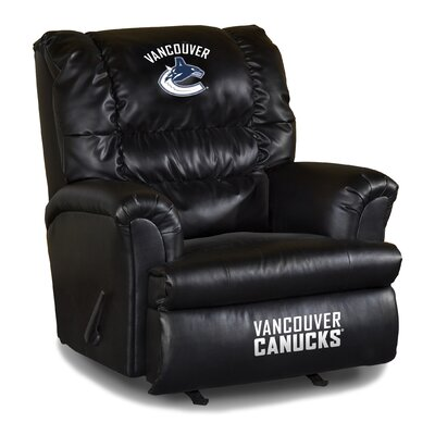 Nhl Big Daddy Leather Manual Recliner NHL Team: Vancouver Canucks