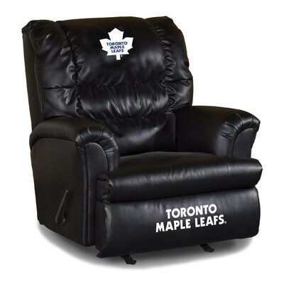 Nhl Big Daddy Leather Manual Recliner NHL Team: Toronto Maple Leafs