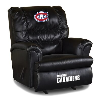 Nhl Big Daddy Leather Manual Recliner NHL Team: Montreal Canadians