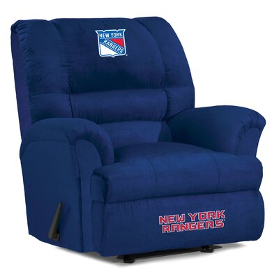 NFL Big Daddy Manual Recliner NHL Team: New York Rangers