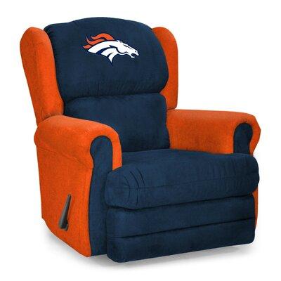 NFL COS Coach Manual Recliner NFL Team: Denver Broncos