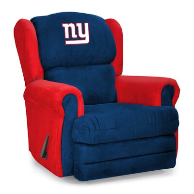 NFL COS Coach Manual Recliner NFL Team: New York Giants