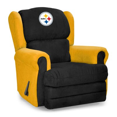 NFL COS Coach Manual Recliner NFL Team: Pittsburgh Steelers