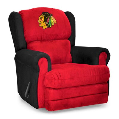 NHL Coach Manual Recliner NHL Team: Chicago Blackhawks