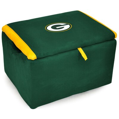 NFL Upholstered Storage Ottoman NFL Team: Green Bay Packers