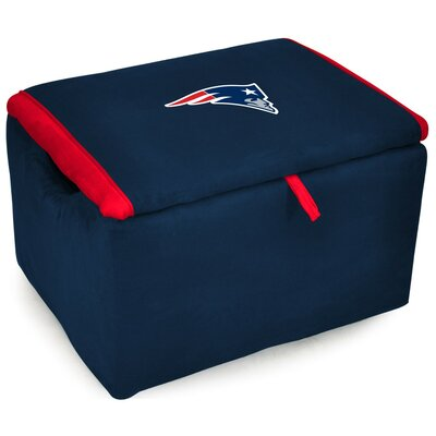 NFL Upholstered Storage Ottoman NFL Team: New England Patriots