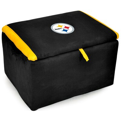 NFL Upholstered Storage Ottoman NFL Team: Pittsburgh Steelers