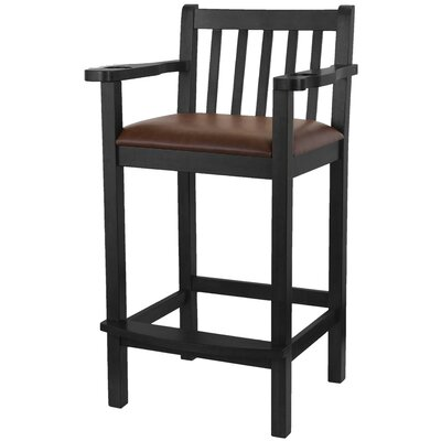 33 Bar Stool (Set of 2) Finish: Black
