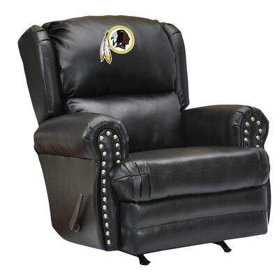 Leather Manual Recliner NFL Team: Washington Redskins