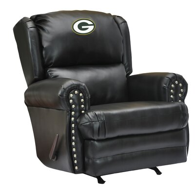 Leather Manual Recliner NFL Team: Green Bay Packers