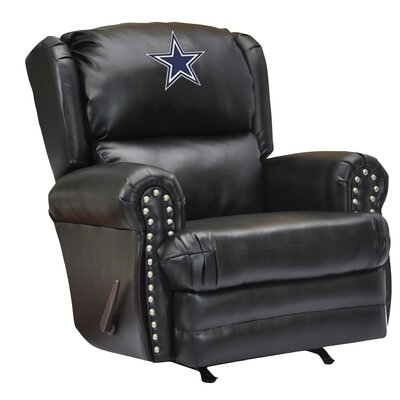 Leather Manual Recliner NFL Team: Dallas Cowboys