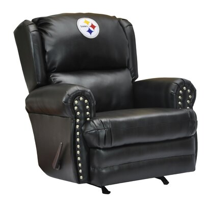Leather Manual Recliner NFL Team: Pittsburgh Steelers