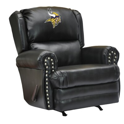 Leather Manual Recliner NFL Team: Minnesota Vikings